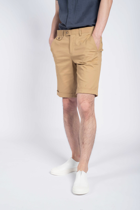 Flapped Pocket Bermuda Shorts