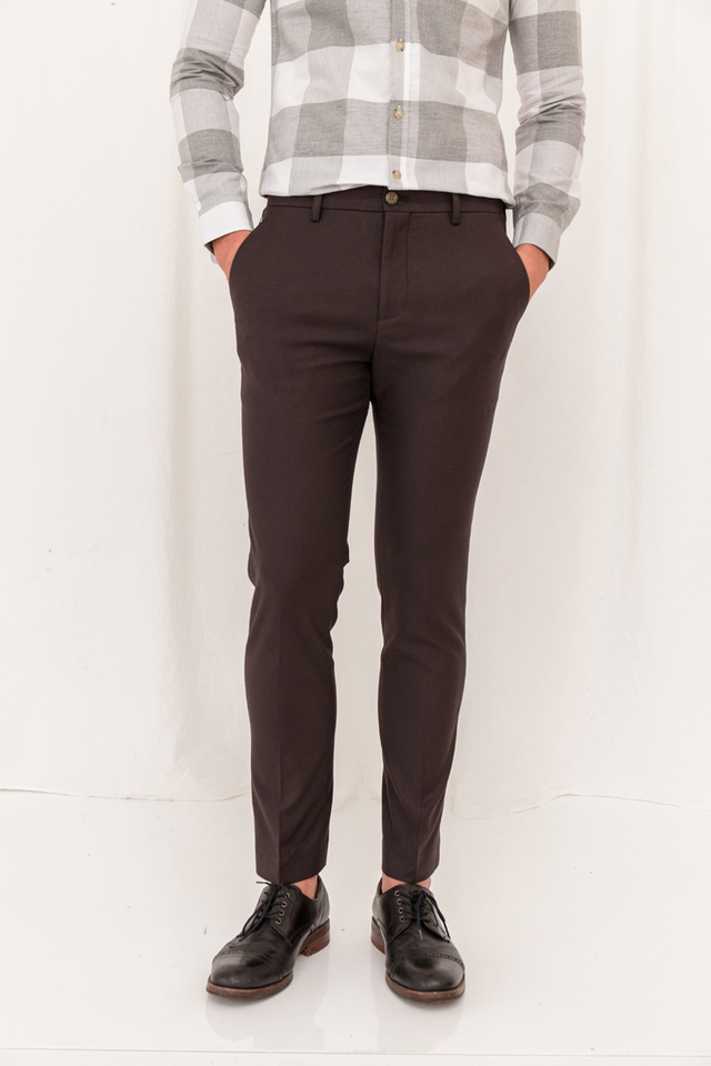 Basic Pocketed Slim-fit Trousers
