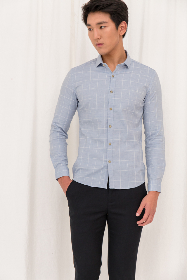 Large Checked Slim-fit Shirt