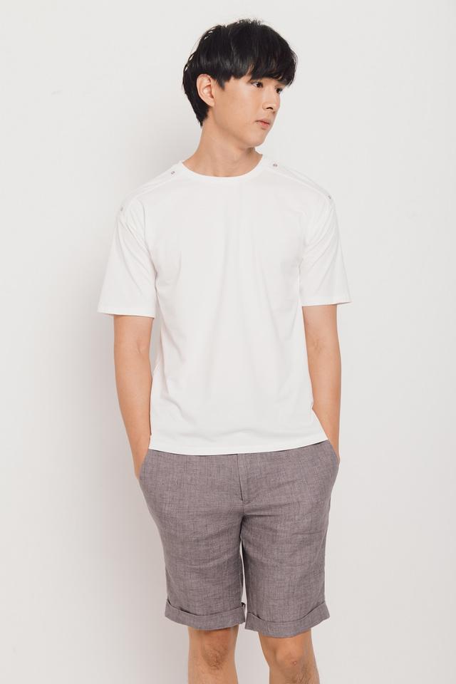 Linen Bermudas in Grey