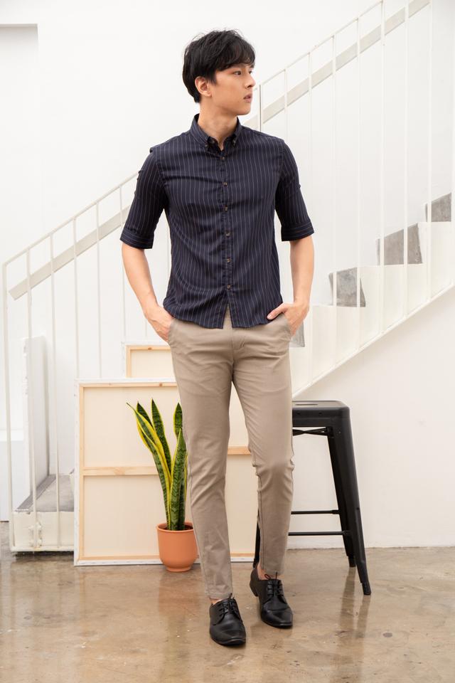 Khaki Beige Slim Pants