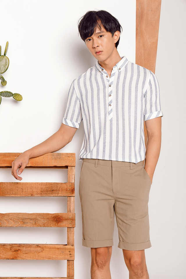 Halftrack White Striped Shirt