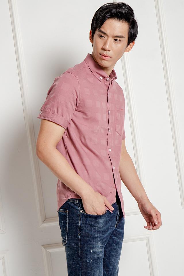 Magenta Short Sleeve Shirt