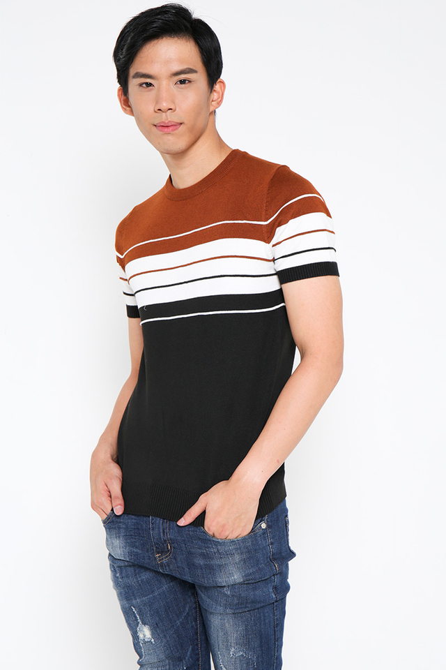 Burnt Orange Knitwear Tee