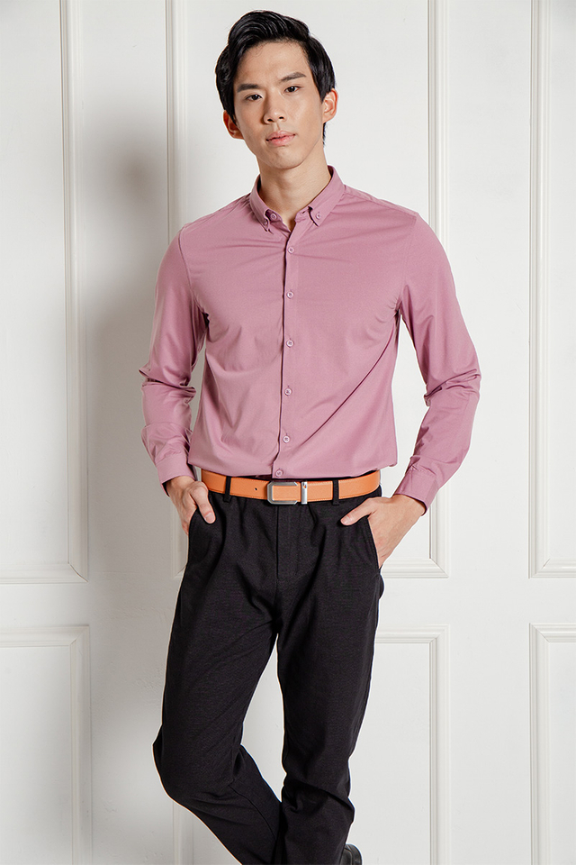 Formal Long Sleeves Shirt in Pink