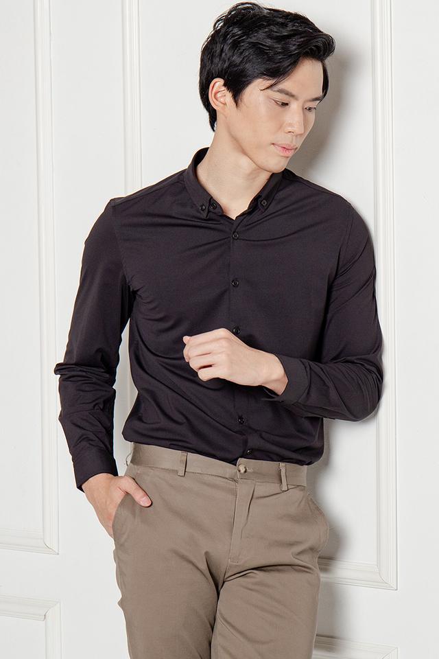 Formal Long Sleeves Shirt in Black