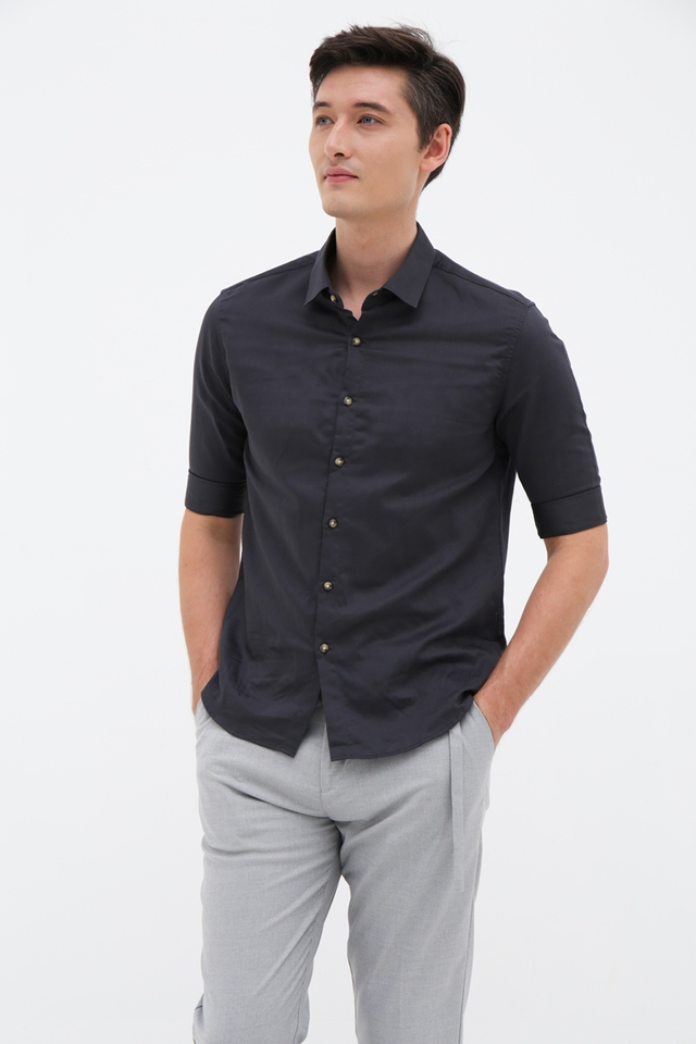 Hale Navy Half Sleeve Shirt