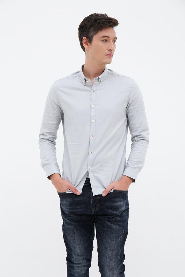 Mint Long Sleeve Casual Shirt