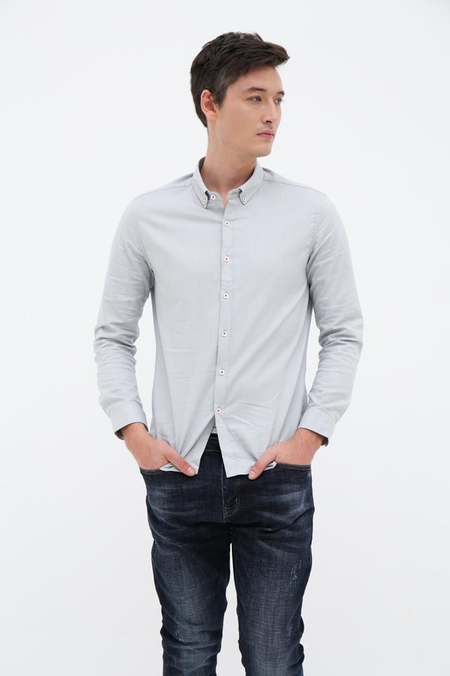 Mint Long Sleeve Casual Shirt