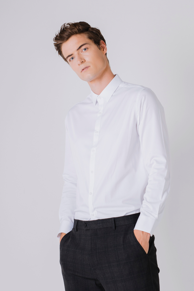 Formal White Long Sleeve Shirt