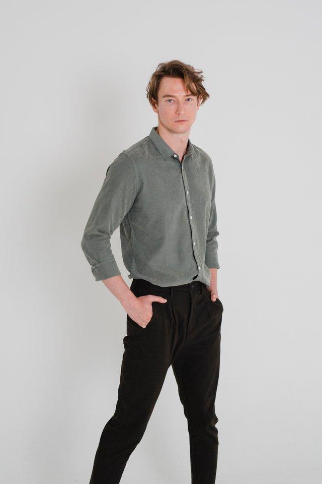 Velvet Green Long Sleeve Shirt