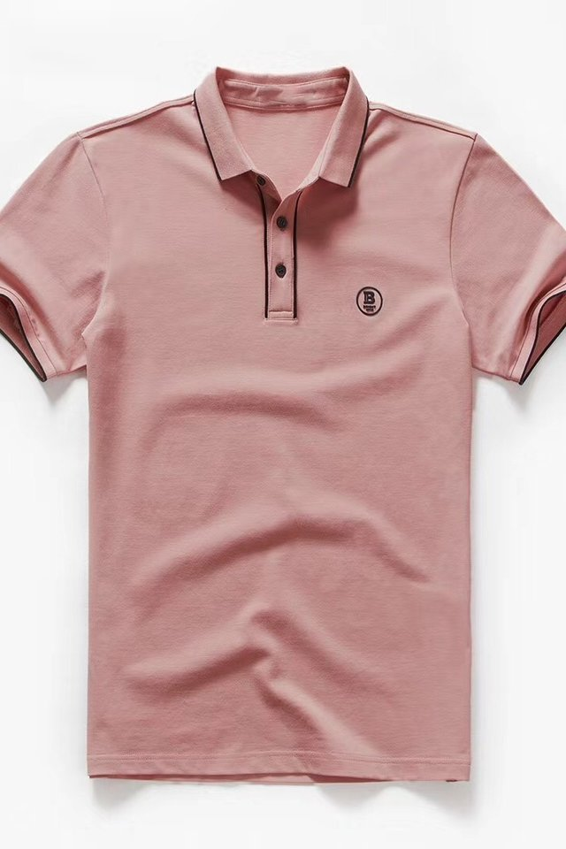 Logo Polo Tee in Peach
