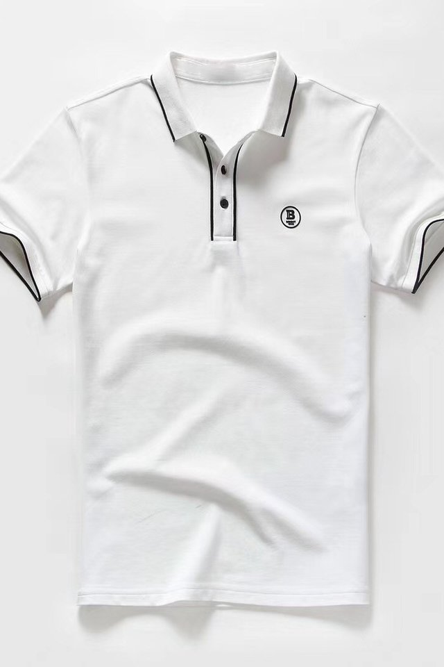 Logo Polo Tee in White