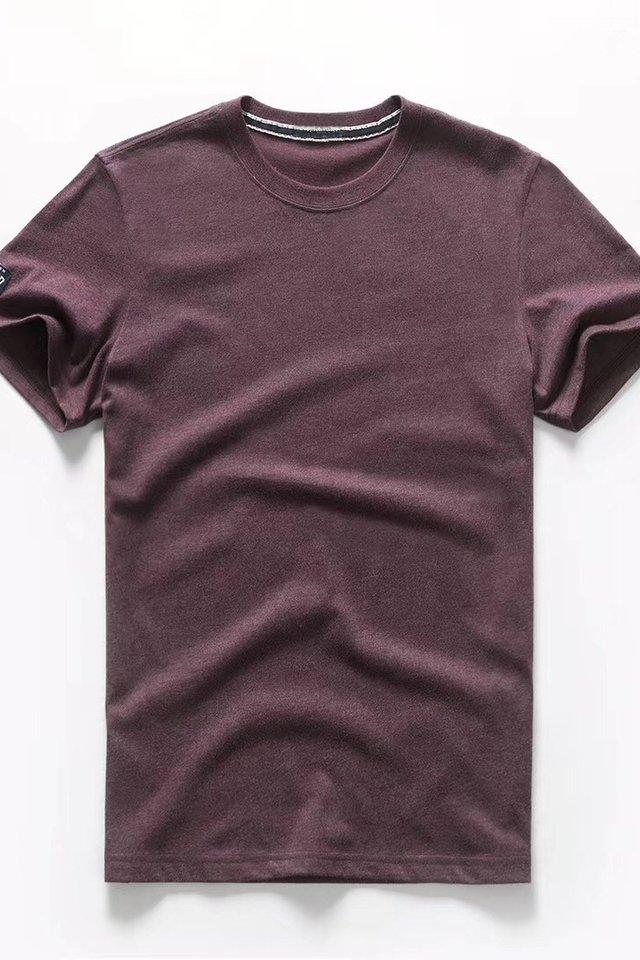 Maroon Crew Neck Tee Shirt