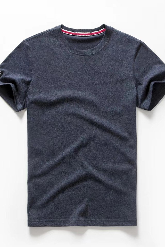 Azure Blue Crew Neck Tee Shirt