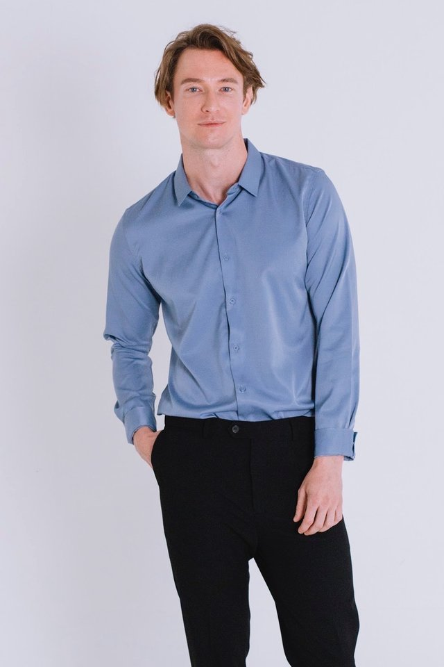 Gloss Bleu Long Sleeve Shirt