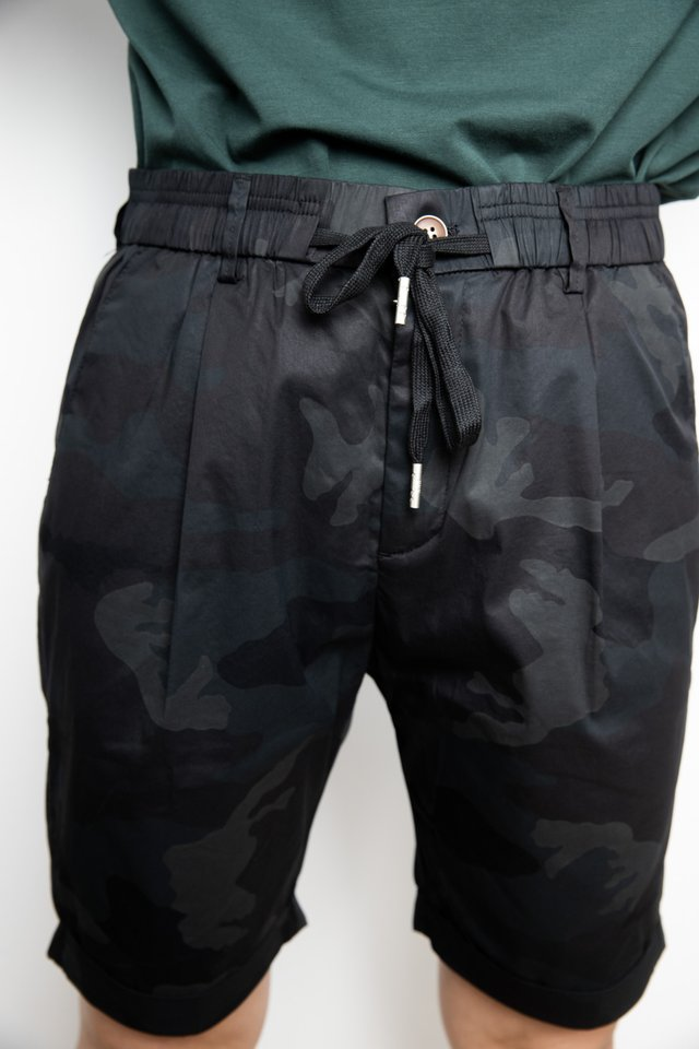 Camo Prints Drawstring Shorts