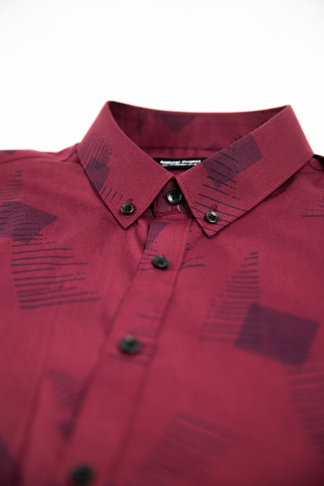 Red Square Prints Half Sleeve Shirt