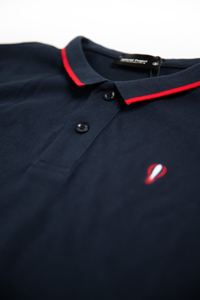 Navy Balloon Logo Polo Tee