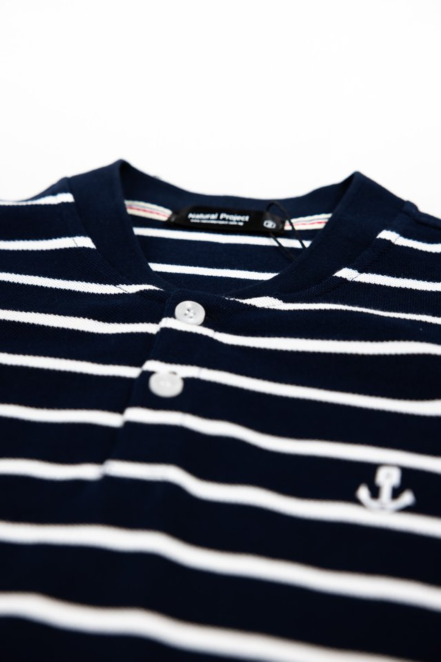 Navy Anchor Striped Tee