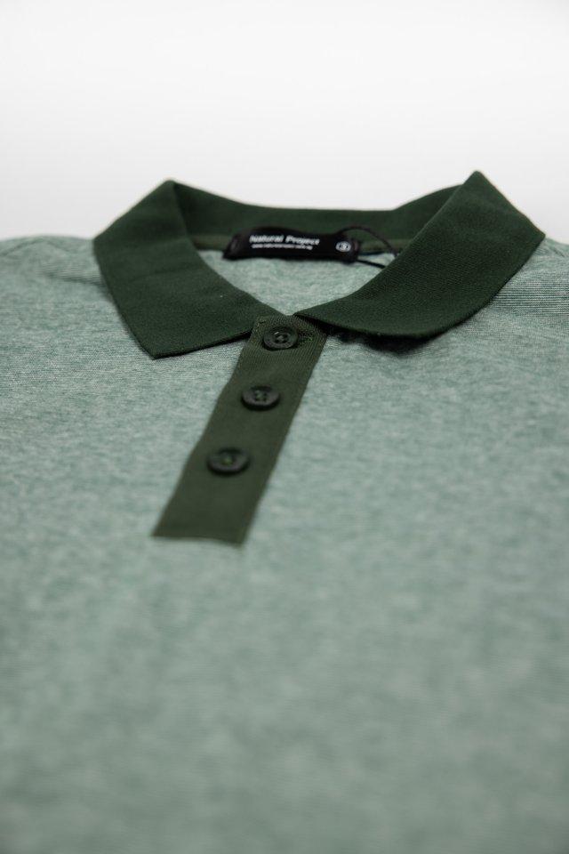 Green Dual Tone Polo Tee