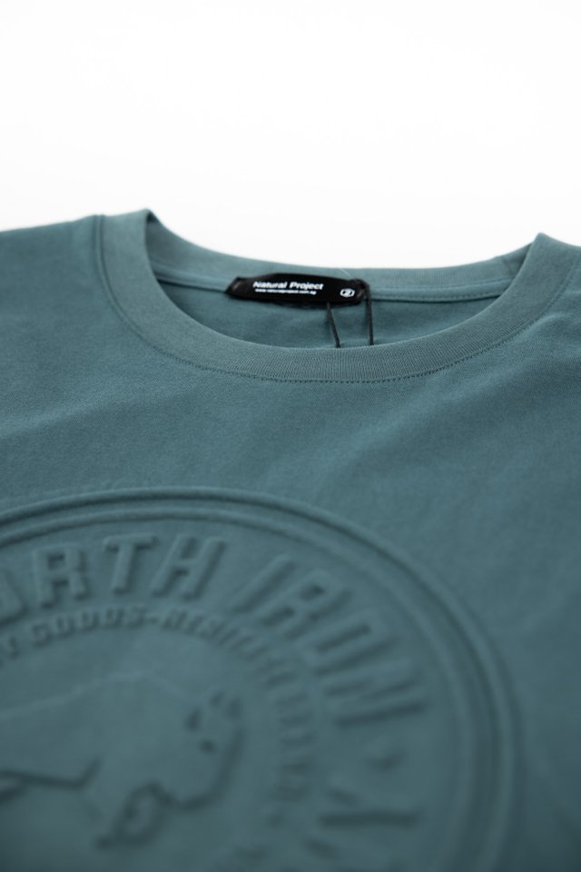 Embossed Crew Neck Tee in Green