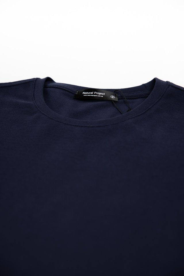 Space Navy Crew Neck Tee