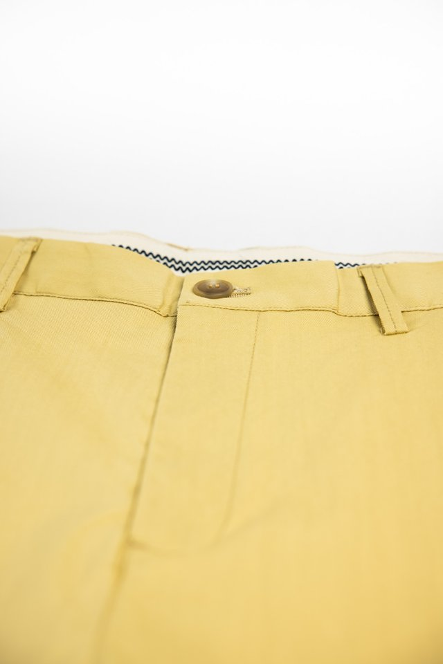 Slim Fit Shorts in Yellow