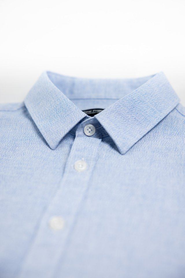 Water Blue Half Sleeve Shirt